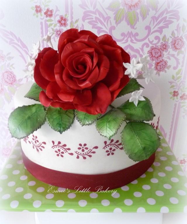 Rose Birthday Cake Red Rose Birthday Cake Cakecentral