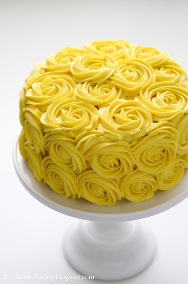 Rose Birthday Cake Shades Of Yellow Color Names For Your Inspiration Yellow