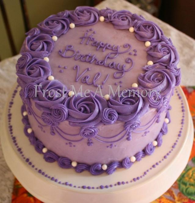 Round Birthday Cakes Beautiful Purple Birthday Cake Simple Cakes Cake Birthday Cake