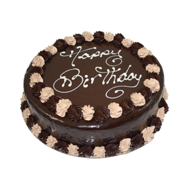 Round Birthday Cakes Chocolate Mud Round Happy Birthday Cake Just Cakes