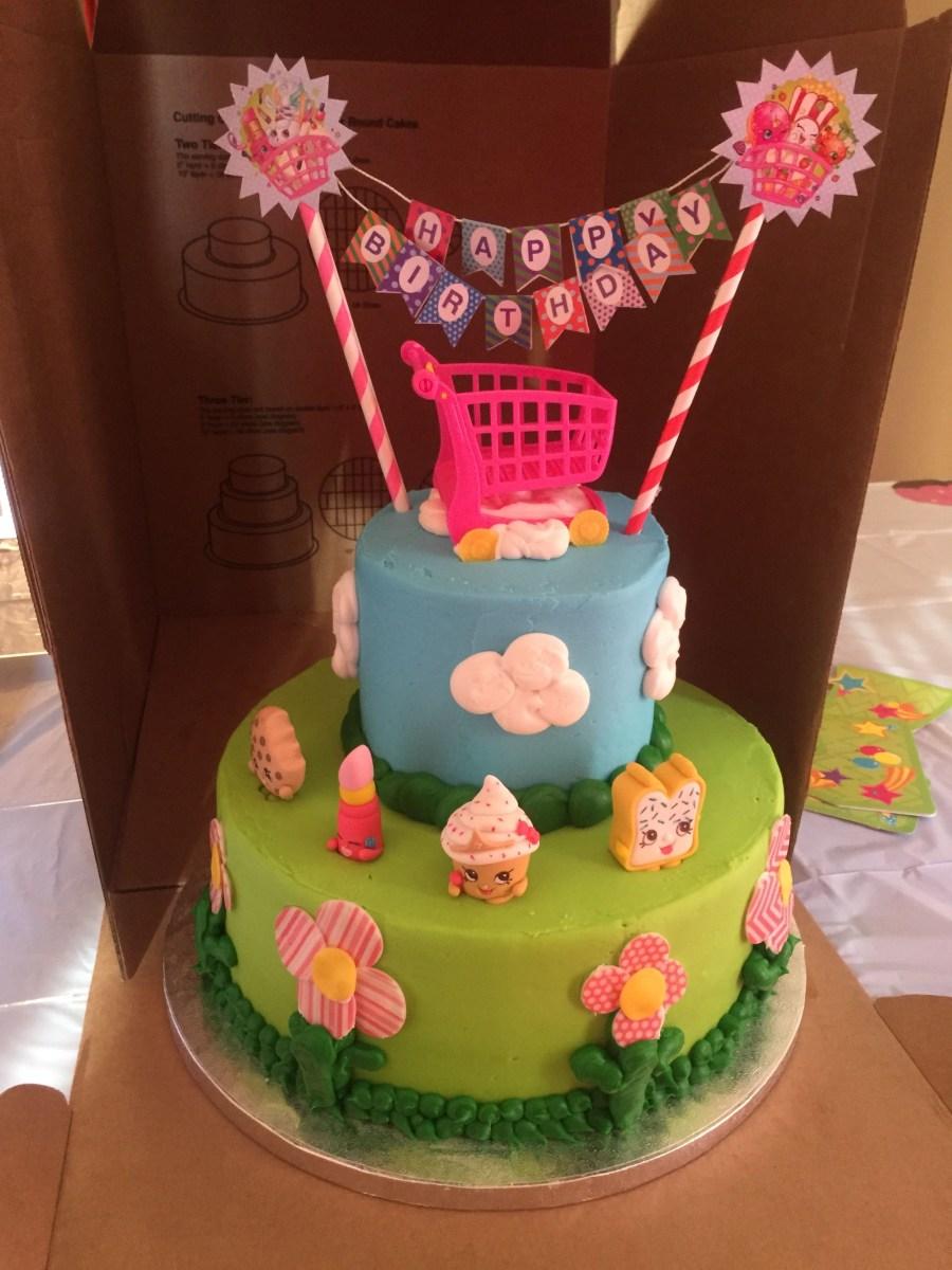 Sams Club Birthday Cake Sams Club 2 Tier Cake With Added Shopkins Sams Made The Cake But I