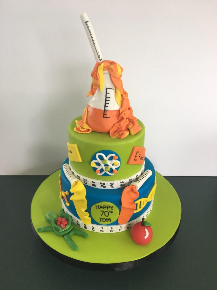 Science Birthday Cake Birthday Love Of Cakes