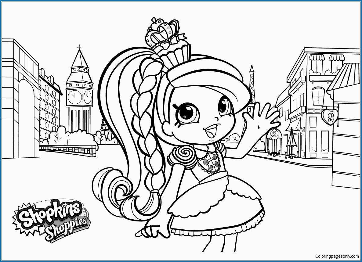 Shoppies Coloring Pages Shopkins Dolls Coloring Pages Awesome