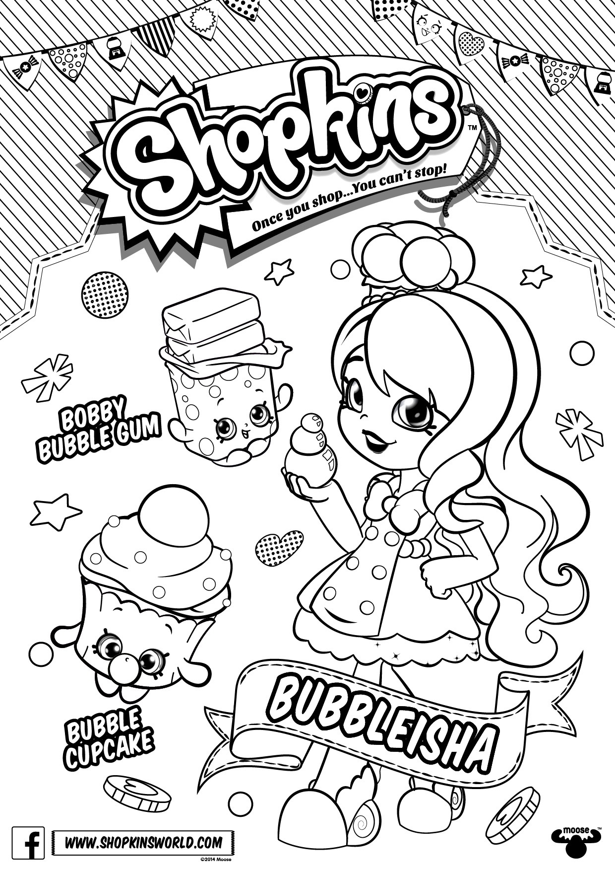 Shoppies Coloring Pages Shoppie Dolls Coloring Pages At Getdrawings