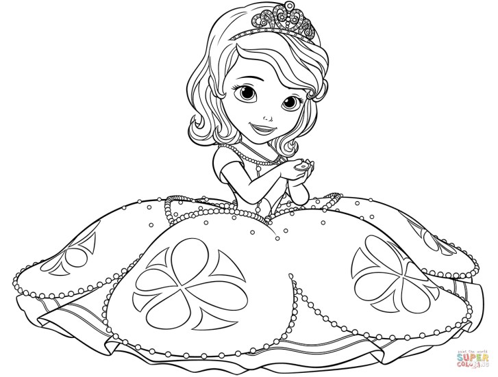 27+ Awesome Photo of Sofia The First Coloring Page