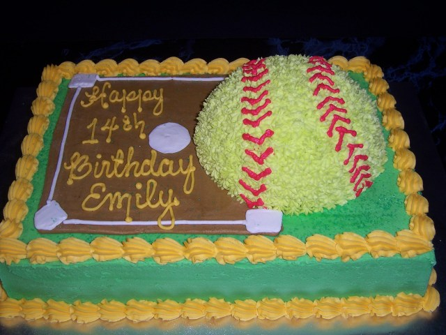 Softball Birthday Cakes 9 Cute Softball Birthday Cakes Photo Softball Birthday Cake Ideas