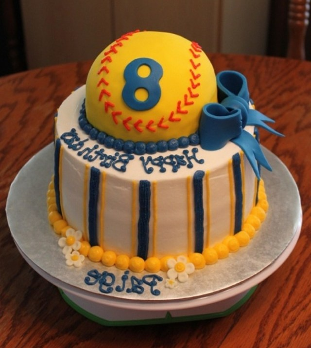 Softball Birthday Cakes Softball Birthday Cakes E9dx Softball Birthday Cake Ideas S Best