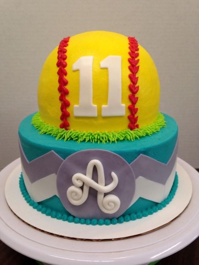 Softball Birthday Cakes Softball Chevron Stacked Cake Birthday Softball Softball