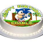 Sonic Birthday Cake 1 X Individuelle 75 Sonic Birthday Cake Topper Mit Etsy