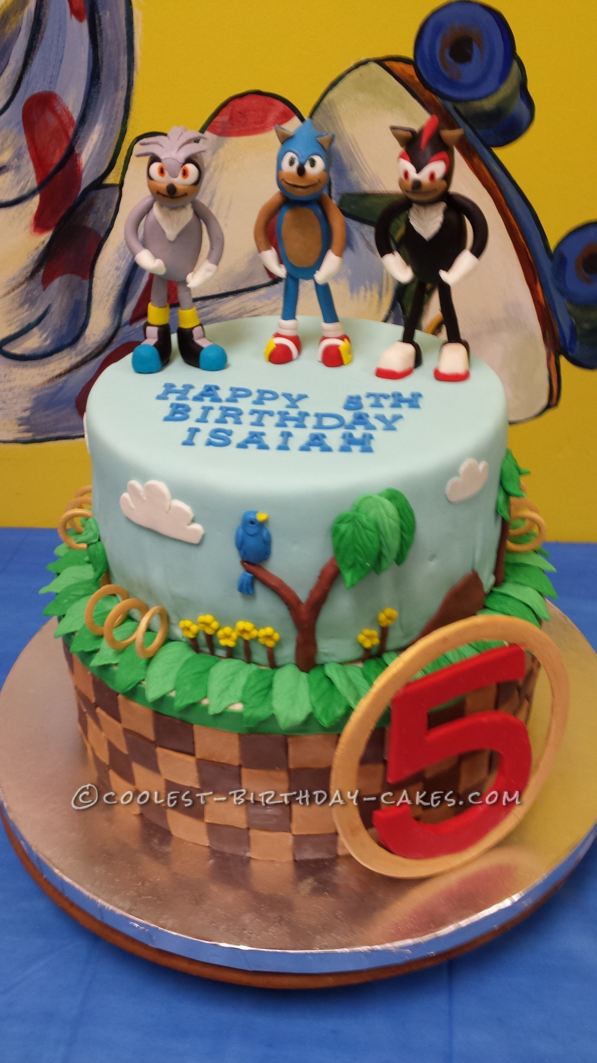 Sonic Birthday Cake Coolest Sonic Silver And Shadow The Hedgehogs Birthday Cake