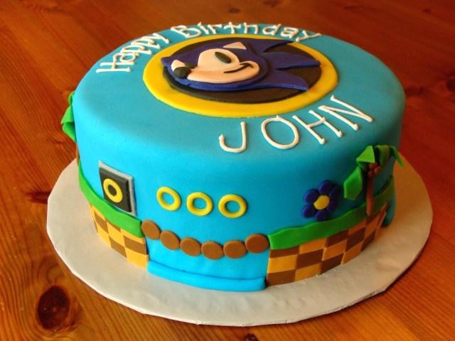 Sonic Birthday Cake Sonic Birthday Cake Ideas Wondercraftnetworks