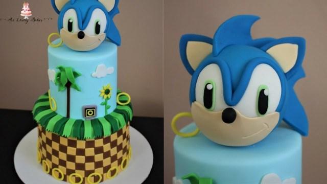 Sonic Birthday Cake Sonic The Hedgehog Cake Tutorial Youtube