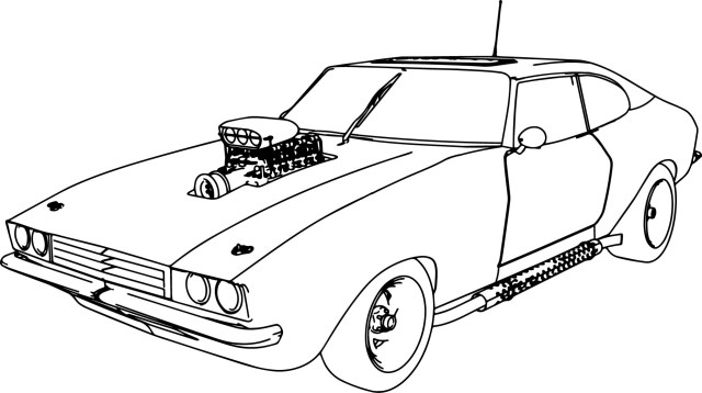 Sports Car Coloring Pages Muscle Car 70 Old Sport Car Coloring Page Wecoloringpage
