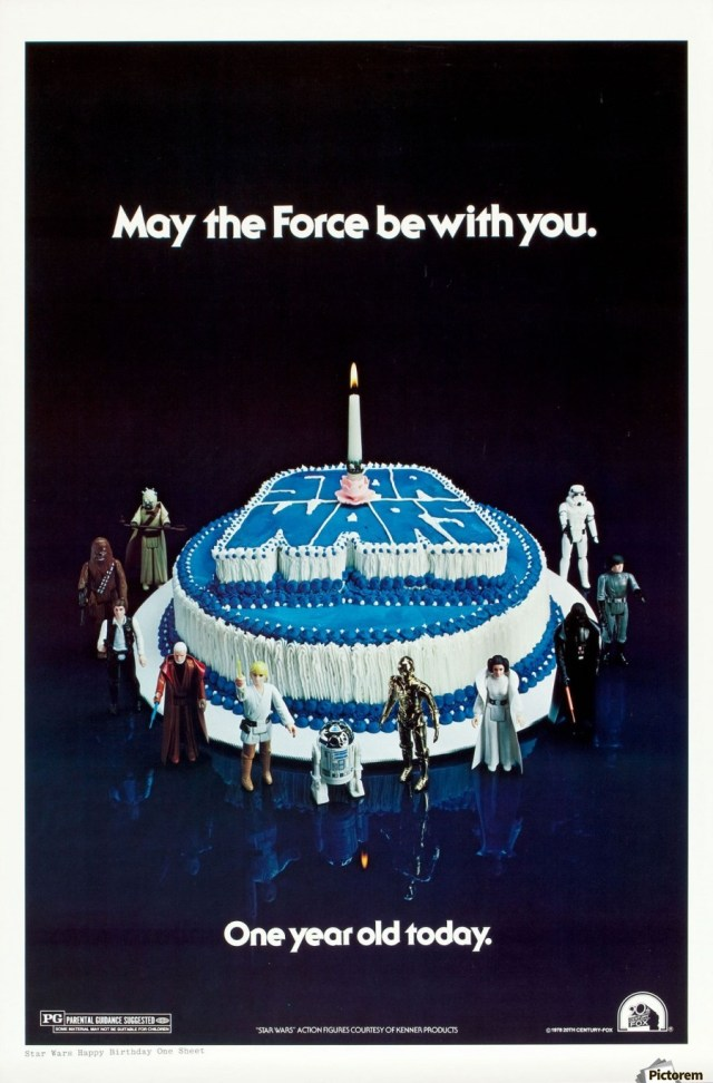 Star Wars Birthday Cakes 1978 Star Wars Birthday Cake Poster Vintage Poster Canvas