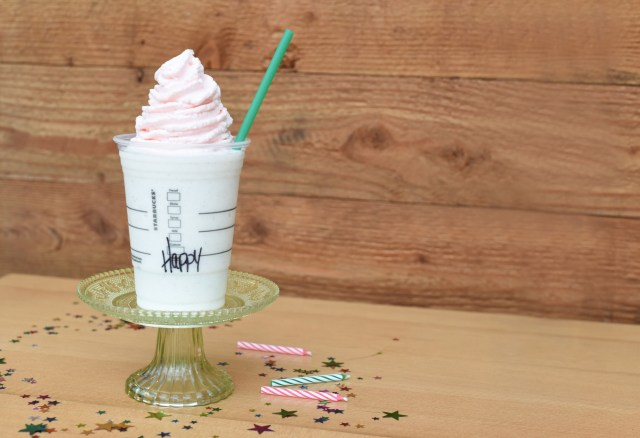 Starbucks Birthday Cake Frappuccino Starbucks Unveils New Frappuccino For Drinks 20th Birthday Fortune