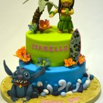 Stitch Birthday Cake Lilo And Stitch Two Tier Cake Celebration Cakes Cakeology