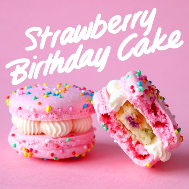 Strawberry Birthday Cakes Strawberry Birthday Cake Macarons Recipe Tastemade