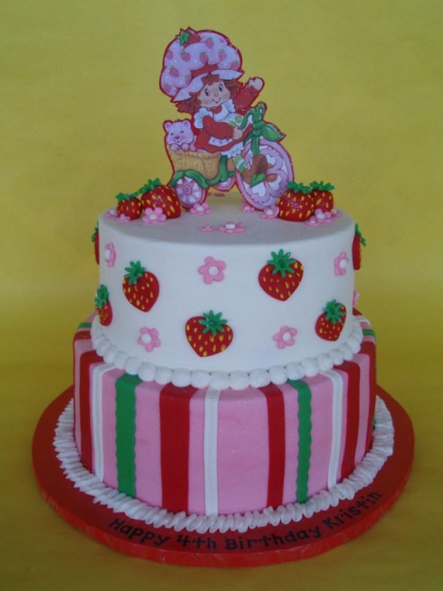 Strawberry Shortcake Birthday Cake Strawberry Shortcake Themed Birthday Cake This Strawberry Flickr