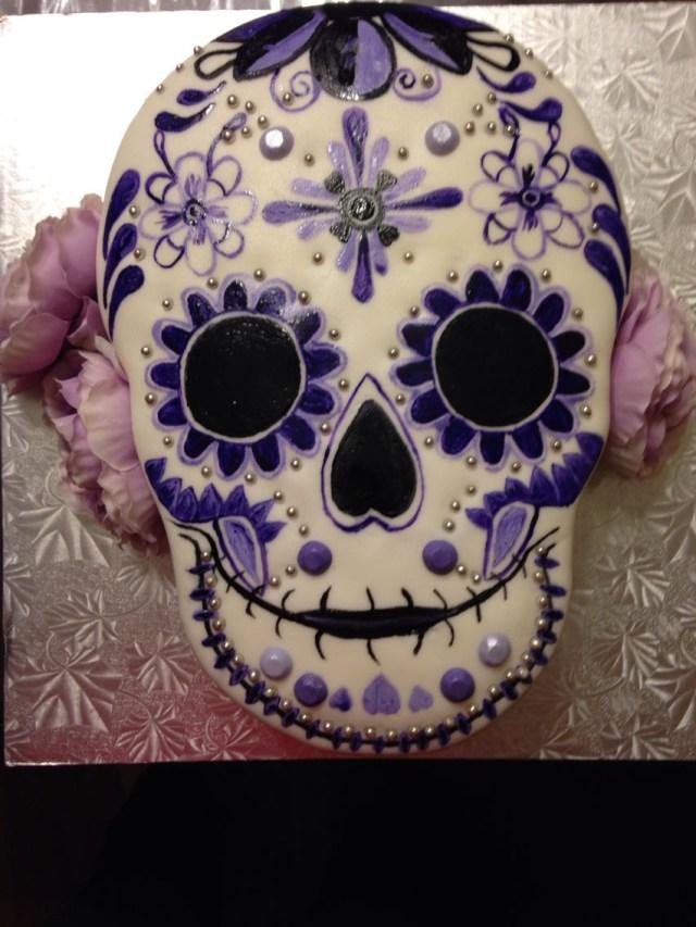 Sugar Skull Birthday Cake Sugar Skull Cake Decorated Cookies Amazing Pinterest Cake