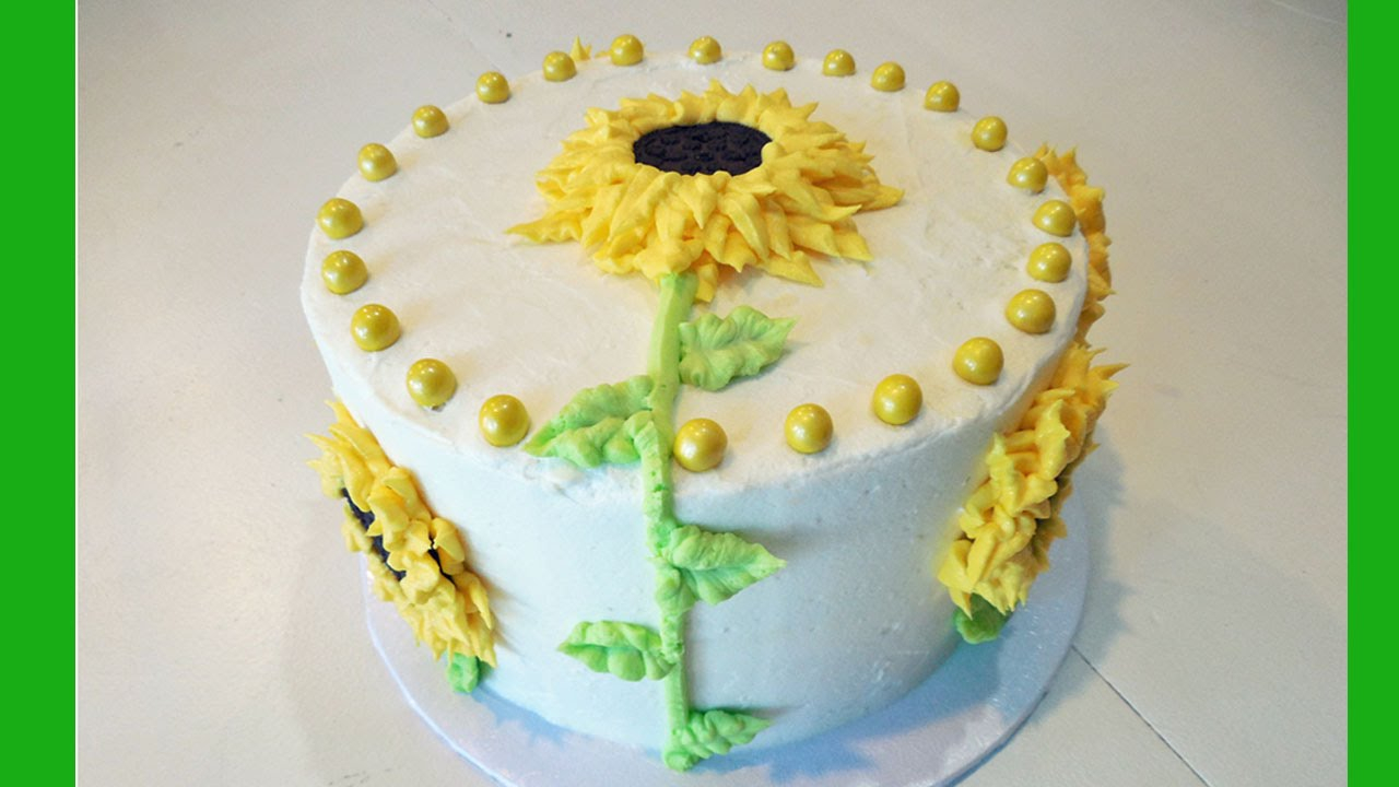 Sunflower Birthday Cake Decorate A Flower With Jill Youtube