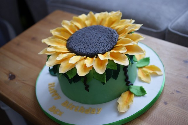 Sunflower Birthday Cake Giant Sunflower Birthday Cake Bakealous