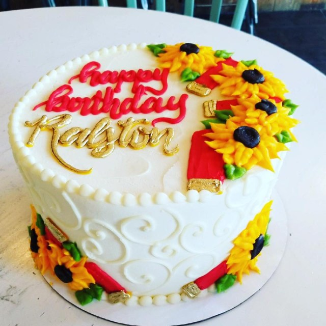Sunflower Birthday Cake Shotgun Shells And Sunflowers Birthday Cake Hayley Cakes And