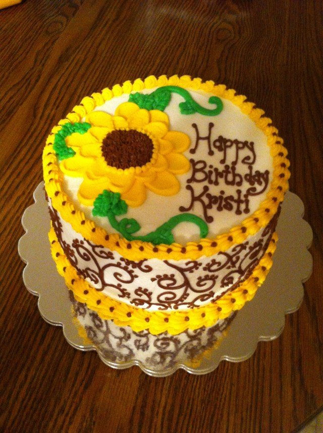 Sunflower Birthday Cake Sunflower Birthday Cake Cakes Meridyth Pinterest Cake