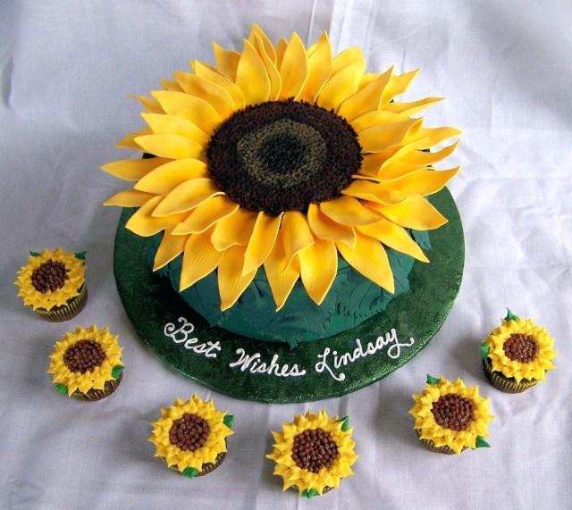 Sunflower Birthday Cake Sunflower Birthday Cake Ideas S Best Cakes Ideas