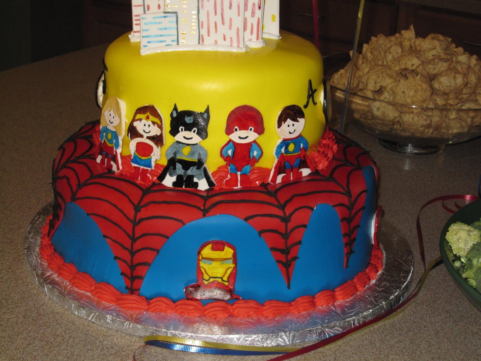 Superhero Birthday Cake Jillys Takes The Cake Superhero Birthday Cake