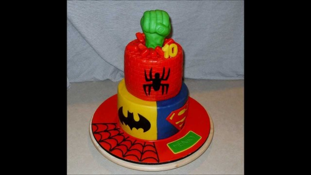 Superhero Birthday Cake Superhero Birthday Cake Youtube