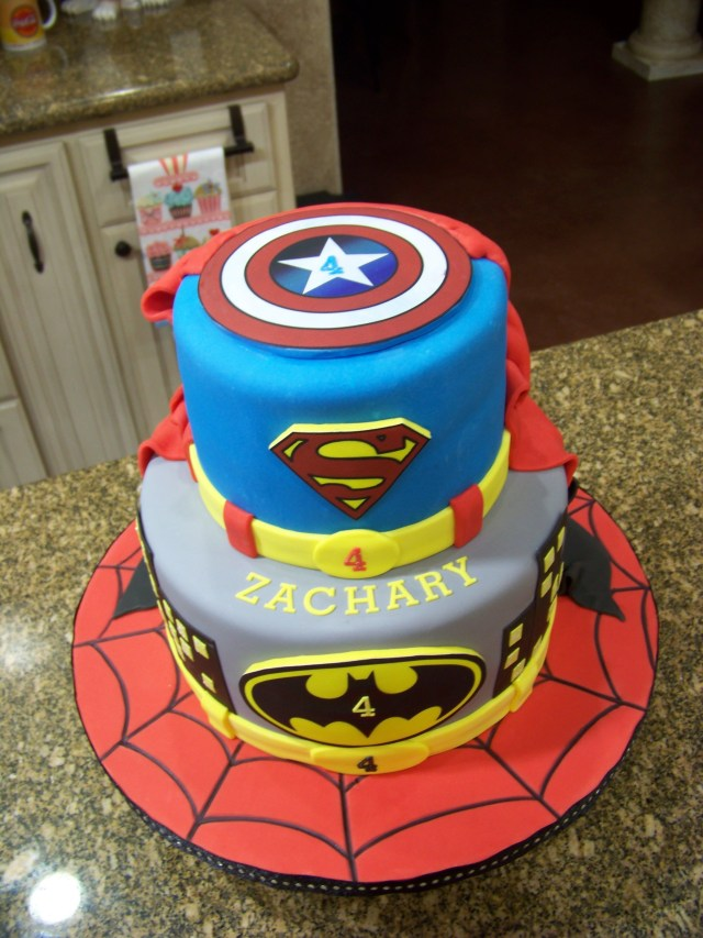 Superhero Birthday Cake Superhero Birthday Cakes Superhero Cake Spiderman Batman