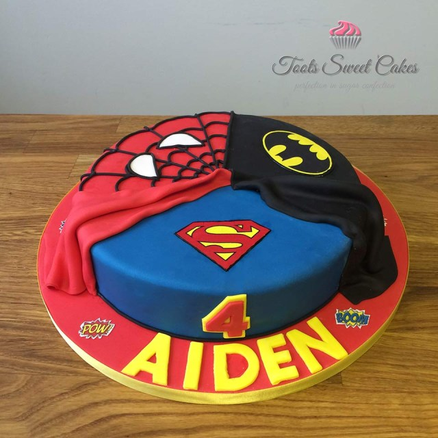 Superhero Birthday Cake Superhero Birthday Cakes