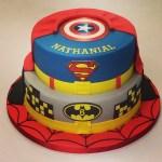 Superhero Birthday Cake Two Tier Super Hero Cake Boys Birthday Cakes Celebration Cakes