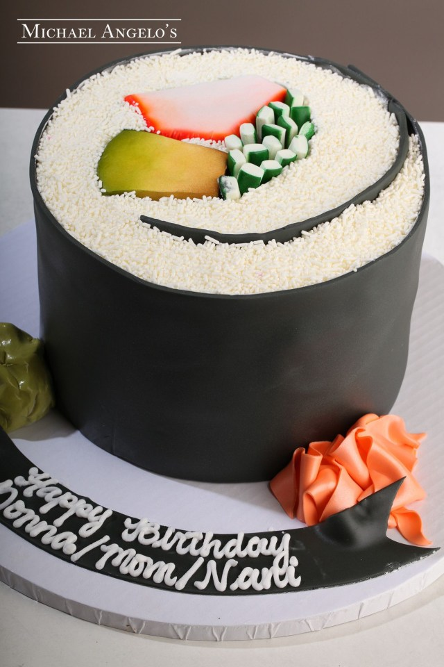 Sushi Birthday Cake Unique Sushi Birthday Cake Design Notesfrommyfooddiary