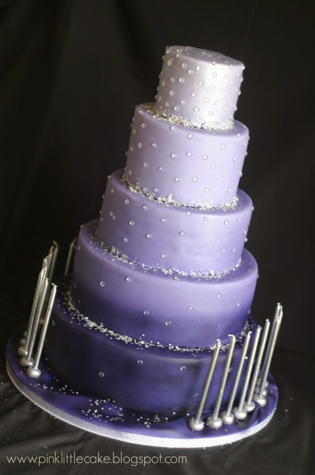 Sweet 16 Birthday Cake Pink Little Cake Sweet 16 Ombre Purple Birthday Cake