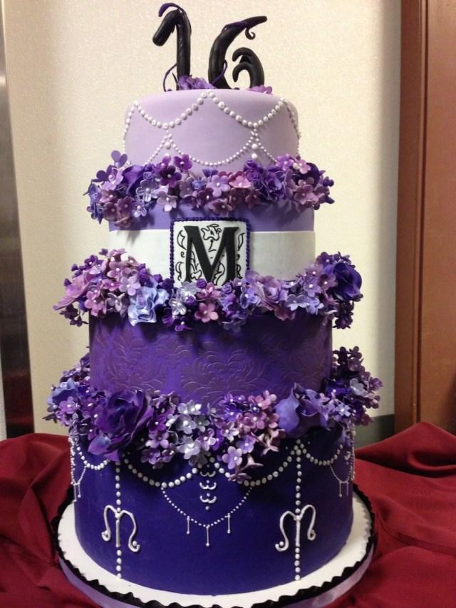 Sweet 16 Birthday Cake Gumpaste Flowers Ri And Fondant Cakecentral