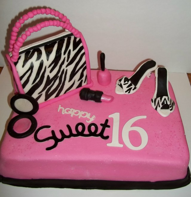 Sweet 16 Birthday Cakes Ministerio Palavra Uncao Birthday Cake Sweet 16 In Zebra