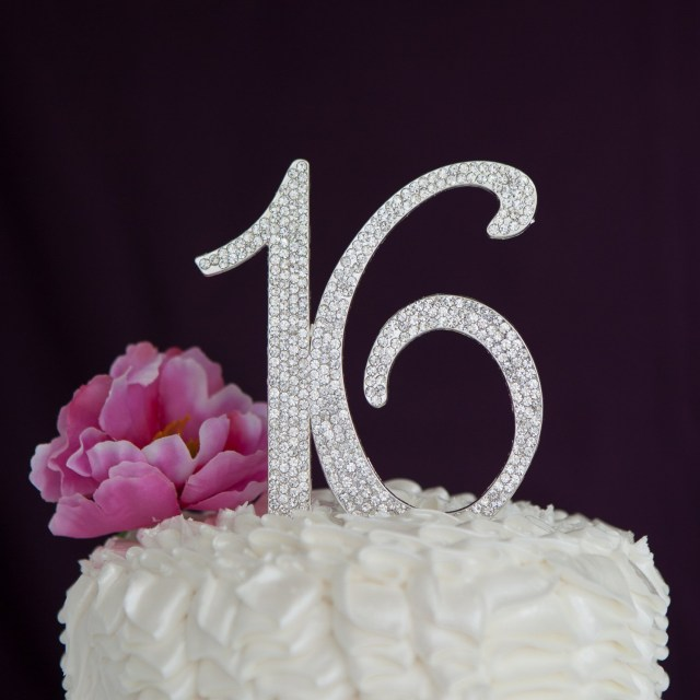 Sweet 16 Birthday Cakes Sweet 16 Cake Topper 16th Birthday Party Supplies Decoration Ideas