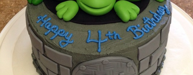 Teenage Mutant Ninja Turtles Birthday Cake Tmnt Cake I Made For My Sons 4th Birthday I Used Fondant For The