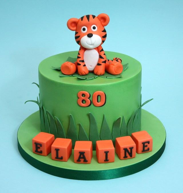 Tiger Birthday Cake Chris Dance Cakes