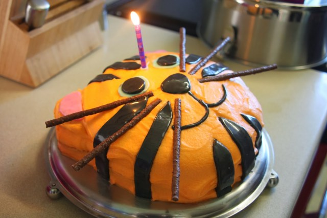 Tiger Birthday Cake Tadpegs A Tiger Birthday Cake For A First Birthday