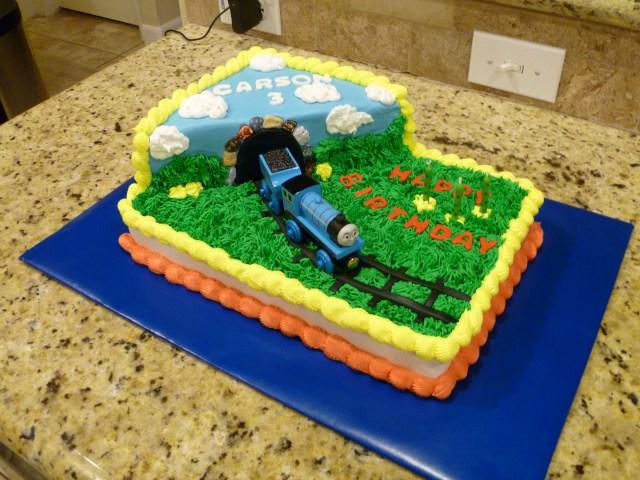 Train Birthday Cakes Thomas The Cake Trip Around Sun