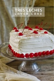 Tres Leches Birthday Cake Tres Leches Layer Cake Divian L Conner