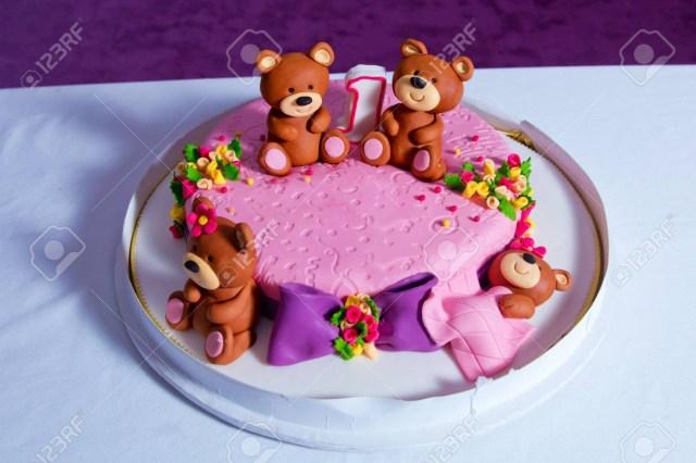 Turquoise Birthday Cake 1 Year Old Birthday Cake Big Beautiful Kids Cake Decorated