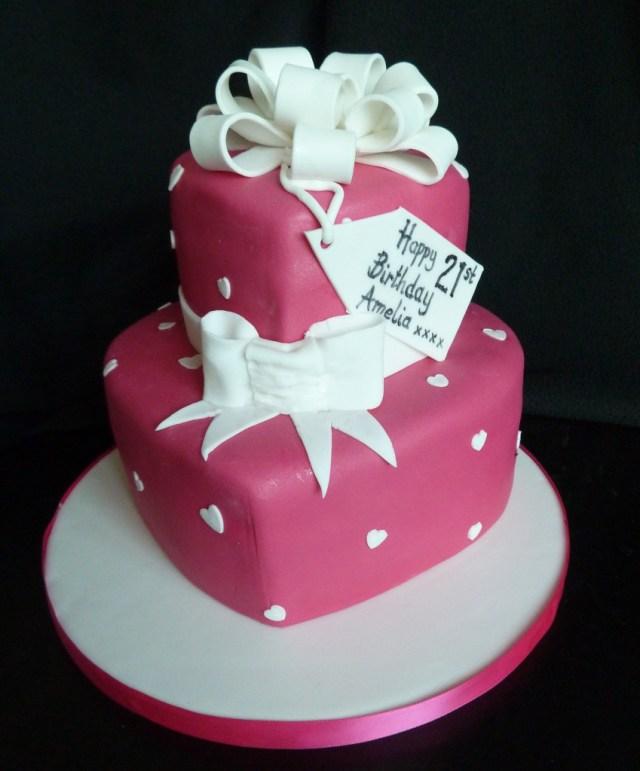 Two Tier Birthday Cake Birthday 21st Cake Wedding Birthday Cakes From Maureens Kitchen