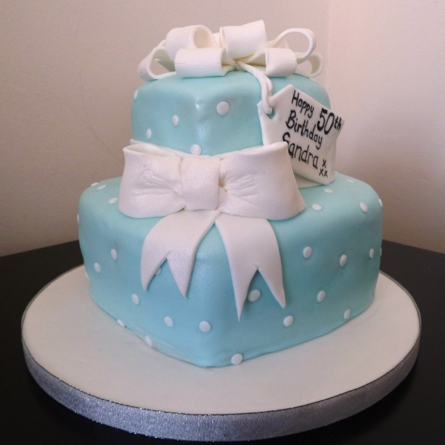 Two Tier Birthday Cake Two Tier Hearts Birthday Cake Wedding Birthday Cakes From