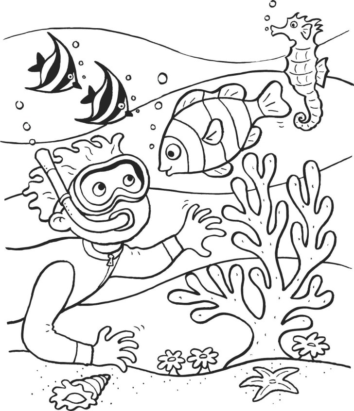 27+ Inspiration Image of Underwater Coloring Pages
