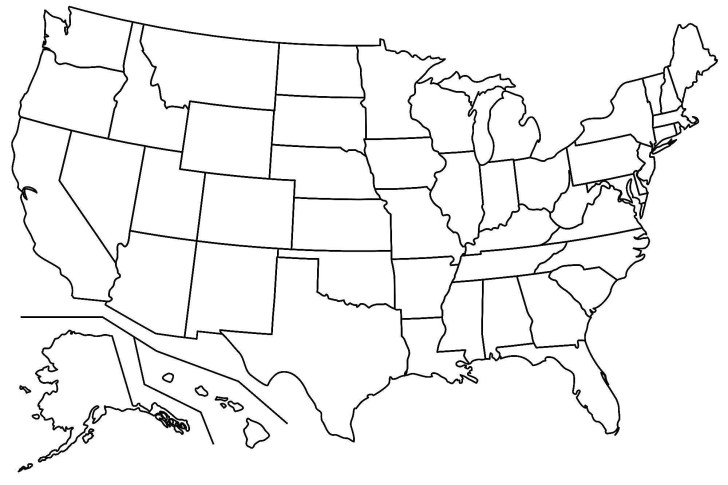 27+ Inspiration Image of United States Map Coloring Page