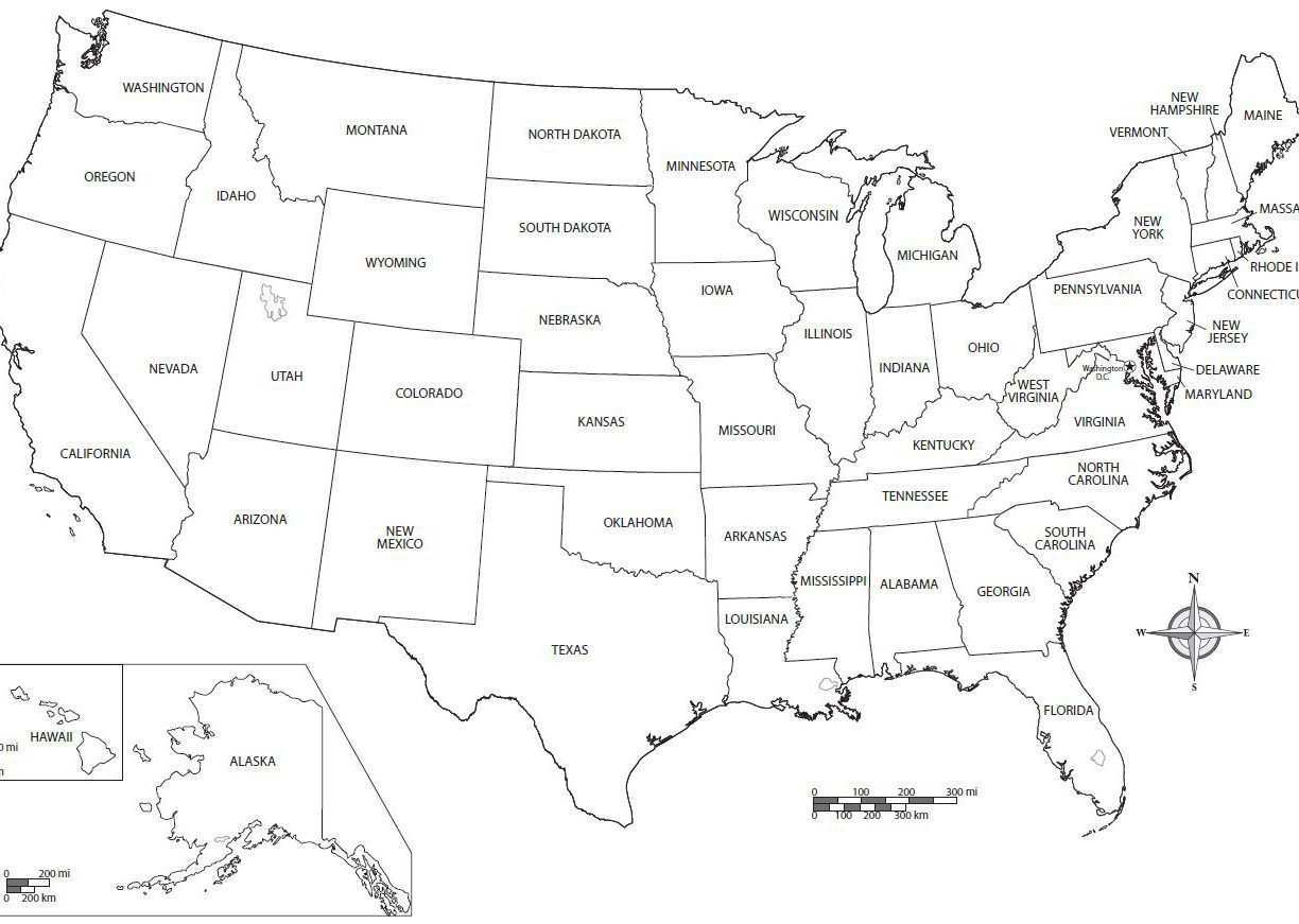 United States Map Coloring Page Us Map Coloring Page Luxury United ...