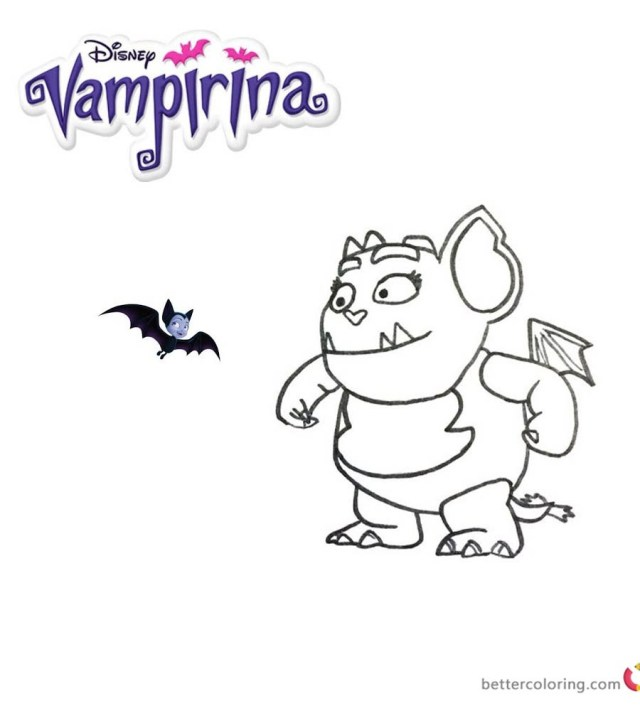 Vampirina Coloring Pages Free Coloring Pages Vampirina